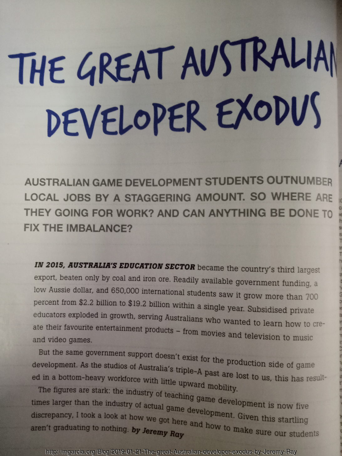 Image: The great Australian developer exodus by Jeremy Ray