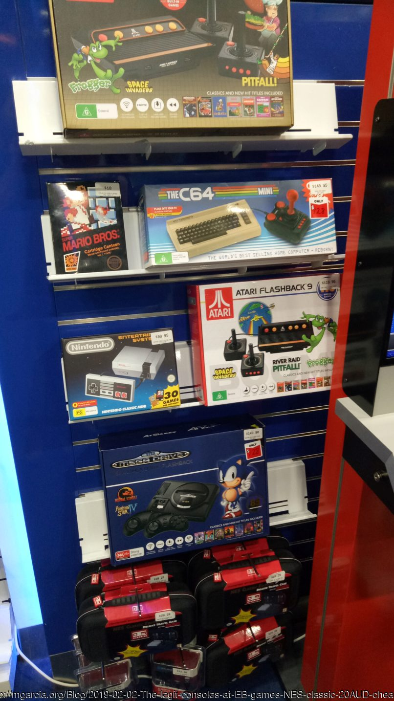 Image: Blog.2019-02-02-The-legit-consoles-at-EB-games-NES-classic-20AUD-cheaper