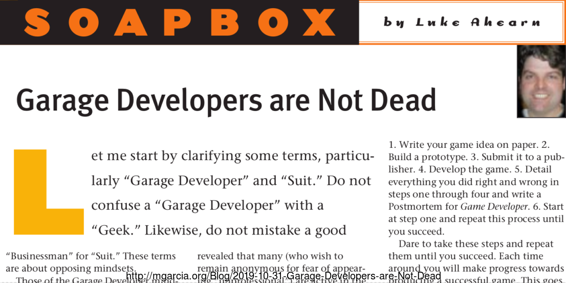 Image: Garage Developers are Not Dead