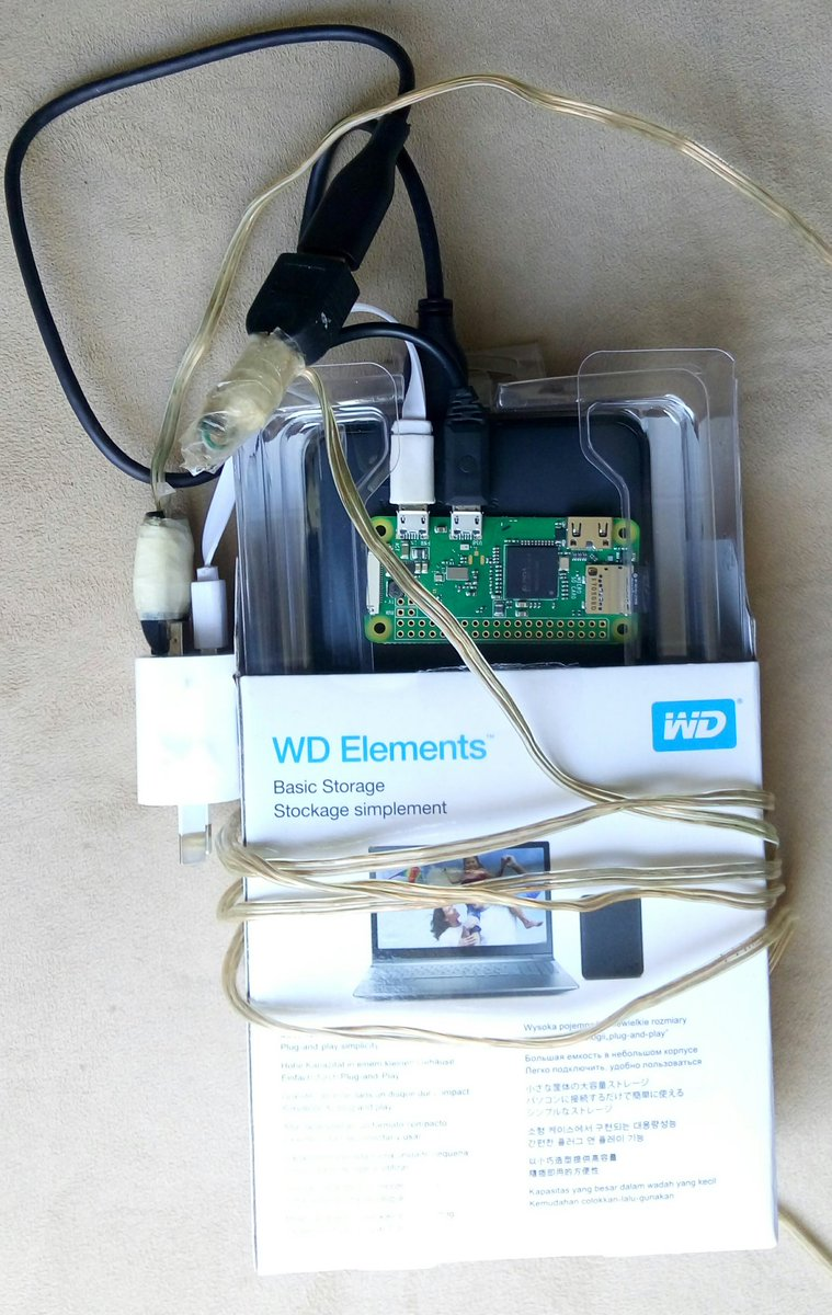 image: My harddrive and Raspberry Pi
