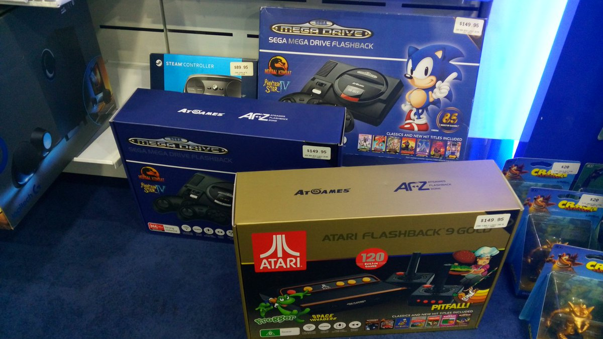 Image: Atari and Sega plug and play consoles